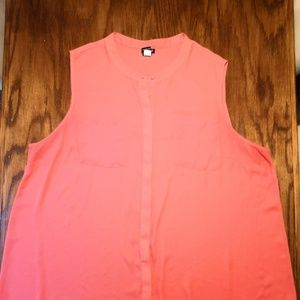 Torrid Button Down Coral Tank Top